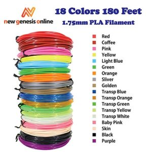 3D Pen Filament 175mm PLA Filament Refills 18 Colors Total