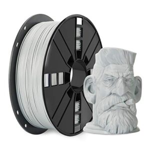 3D Premium PLA PlusPLAPrinter Filament 175mm with Cleaning Filament,Grey PLA