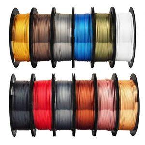 Mika3D Shine Silk Metallic Gold PLA 3D Printer Filament Bundle