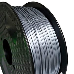 Silk Silver PLA 175mm 3D Printer Filament 1KG 22LBS Printing