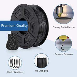 TECBEARS PLA 3D Printer Filament 175mm Black Dimensional Accuracy