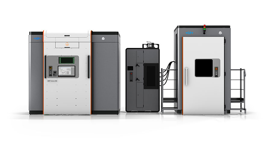 The DMP 500 Factory 3D printing system. Photo via 3D Systems.
