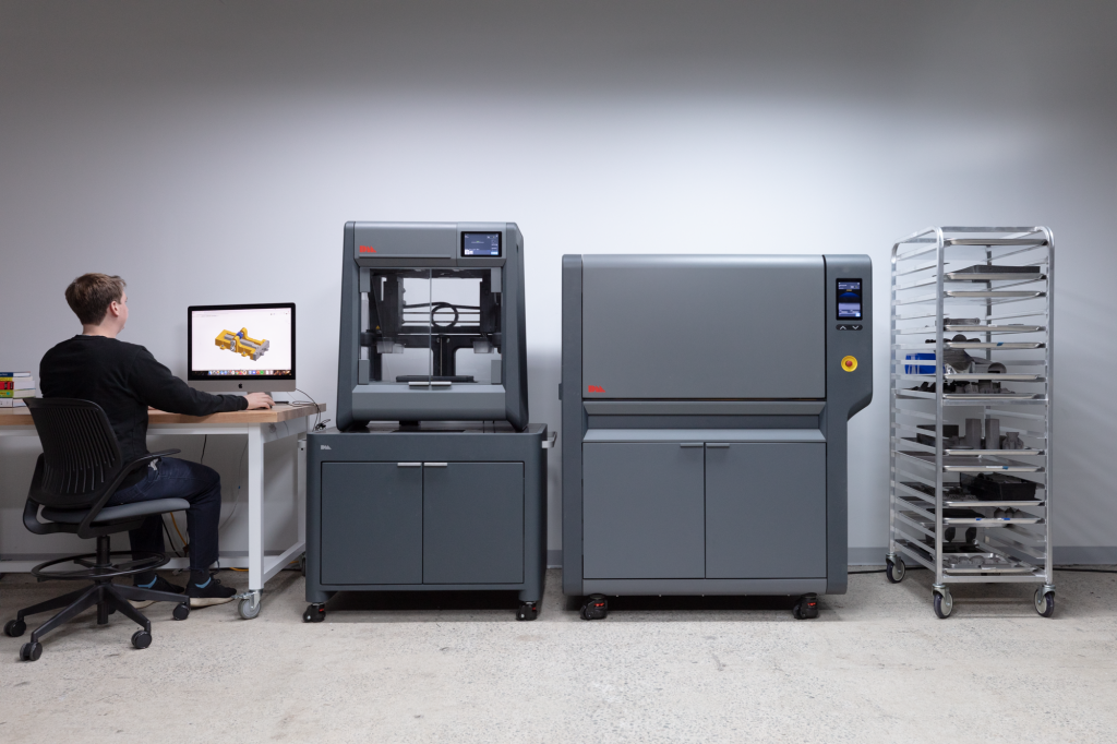 The Studio System 2 with its furnace unit. Photo via Desktop Metal.