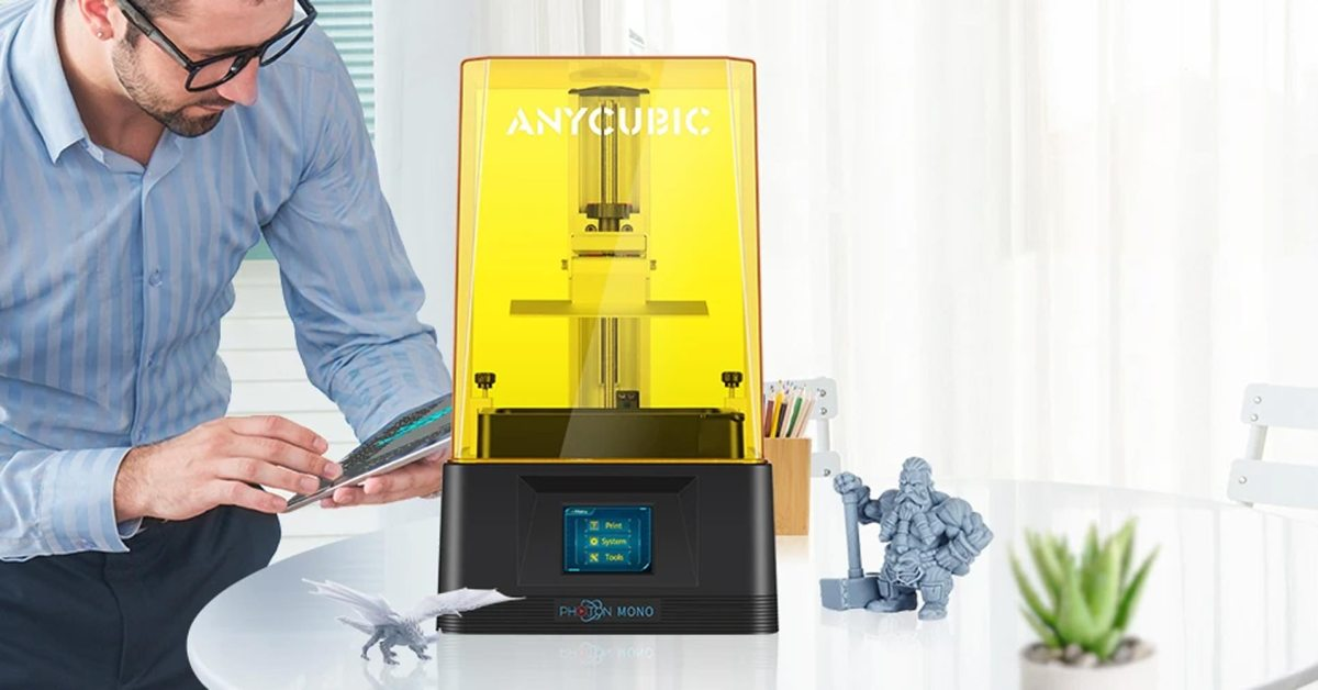 ANYCUBIC's Photon Mono 3D printer creates 5 x 3 x 6.5 inch models at a cost of $ 229