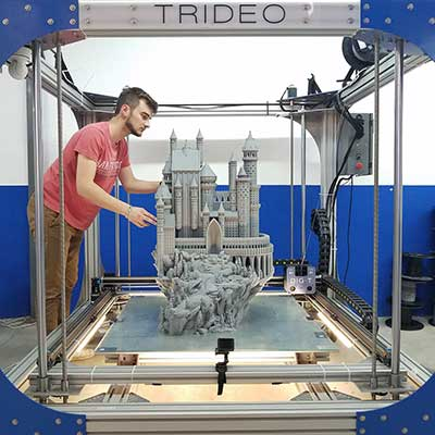 The gigantic 3D printer from Trideo has a construction area of one square meter