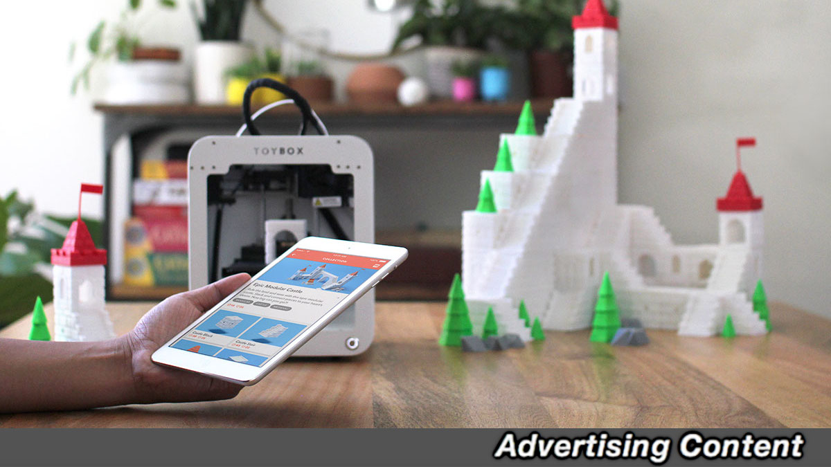 With this 3D printer you can print the toys of your dreams and are available for over 30 percent discount